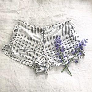 Brandy Melville Striped Linen Shorts